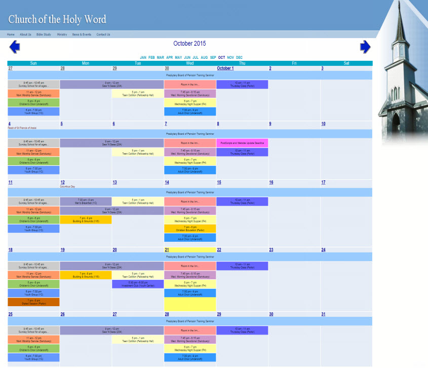 Free Online Calendar For Webmaster, School, Family, Churches